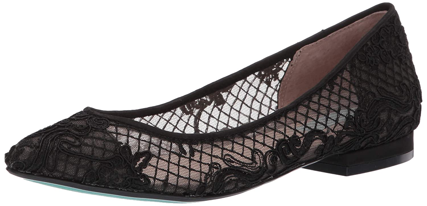 Black Betsey Johnson Womens Sb-Lacey Ballet Flat