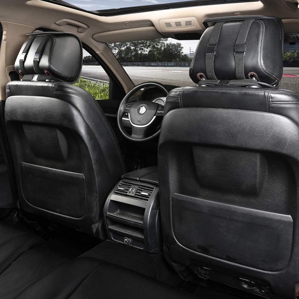 Beige Black Panther 1 Pair Luxury PU Leather Front Car Seat Covers Breathable and Non-Slip Auto Seat Protectors for 95/% Car Seats