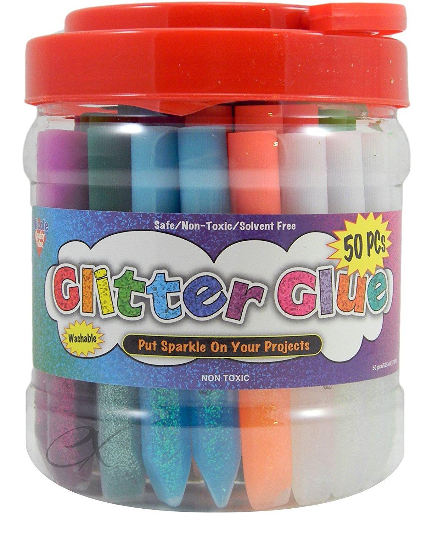 Glitter Glue Pens- Bonus Bucket Set of 50 Nicole 4336855442