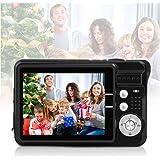 HD Mini Digital Cameras for Kids Teens Beginners,Point and Shoot Digital Video Cameras for Birthday Christmas (Black)