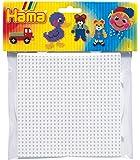 Hama 4453/4454 Ho - Set di 2 Pannelli Forati per Perline da Stirare, Forma Tonda e Quadrata