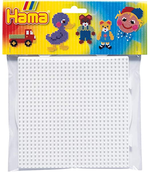 223 Small White Hexagonal Peg Board for Hama Midi Beads