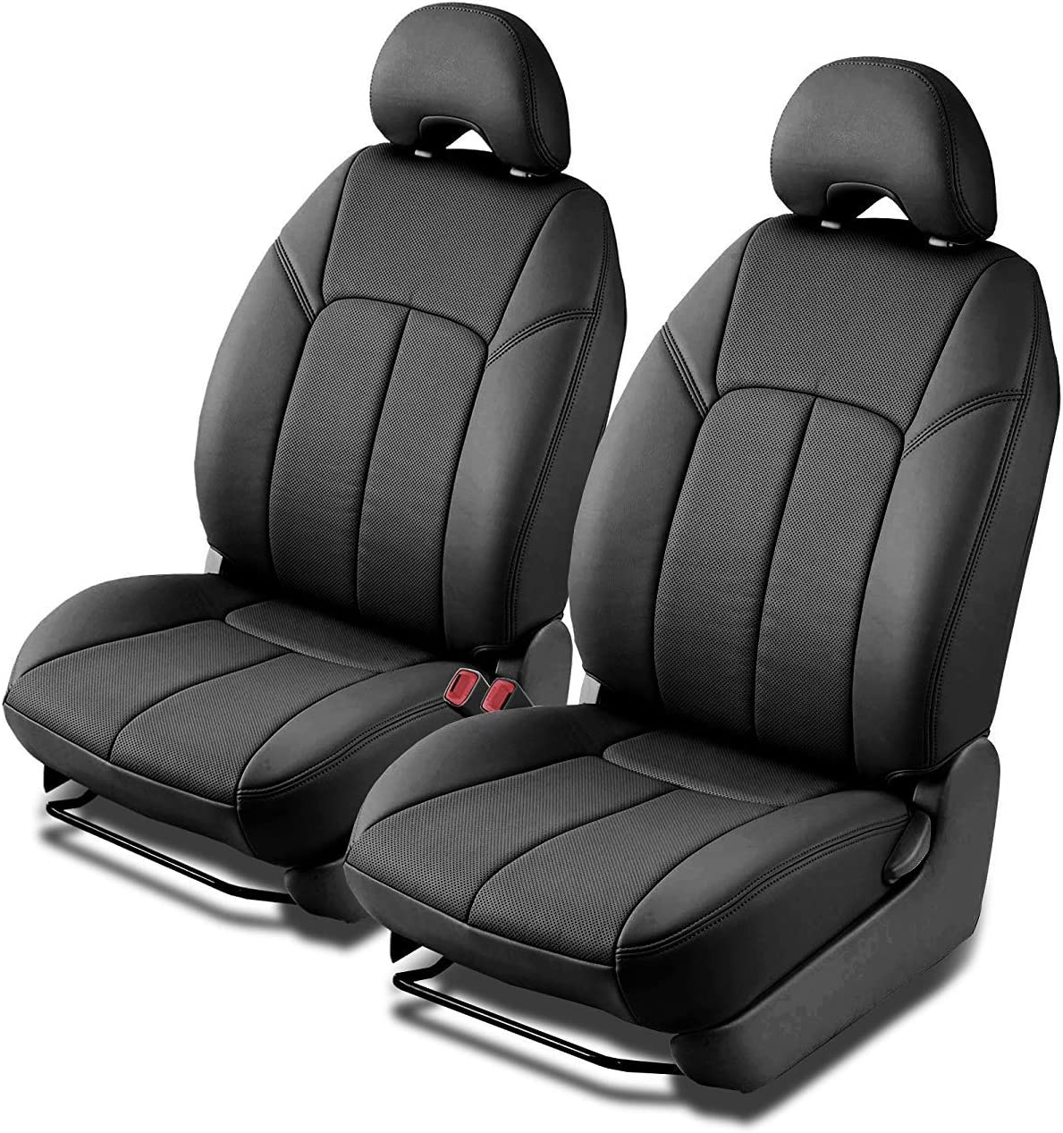 Clazzio 753811blk Black Leather Front Row Seat Cover for Chevrolet Tahoe//Suburban