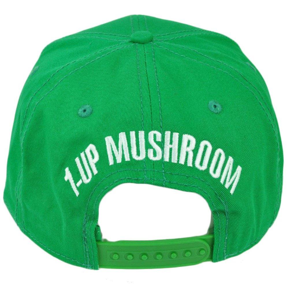Super Mario 1 Up Mushroom Snapback Green Flat Bill Video Game Hat Cap  Nintendo  Amazon.ca  Clothing   Accessories acd377cb9f94