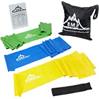 Black Mountain Therapy Exercise Bands with Resistance Band Carrying Case, Door Anchor and Starter Guide