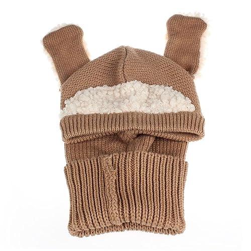 Kanpola Invierno Bebé Bufanda Niños chicos chicas Cálido Animal de Orejas Coif Capucha Gorras Sombreros Bufandas