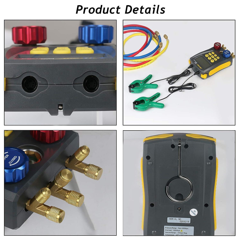 High-Precision Vacuum Pressure Temperature Leakage Tester Dignostic Meter Kit BELEY AUTOOL Refrigeration Digital Manifold HVAC System Gauge Set