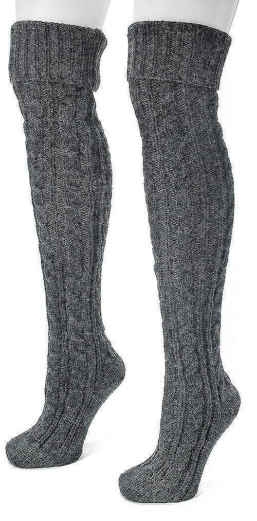 1950s Socks- Women's Bobby Socks Cable Knit Over The Knee Socks $19.95 AT vintagedancer.com
