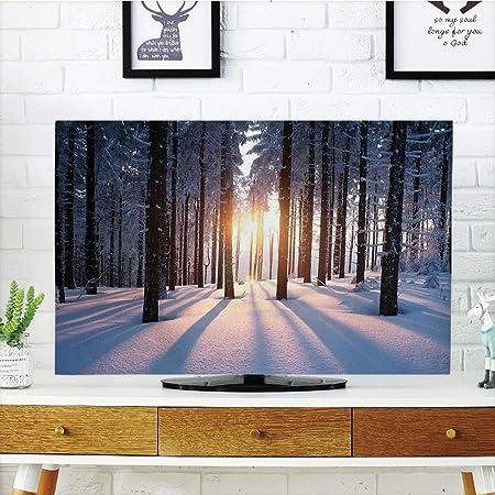 Cubierta de polvo para televisor LCD, decoraciones de invierno, pintura de visión compatible con caminos de