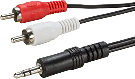 2m Inline Stereo Cinch Audio HIFI Kabel beidseitig 2x Stecker weiß vergoldet