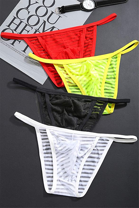 Amazon.com: WenMei - Bañador para hombre, transparente ...