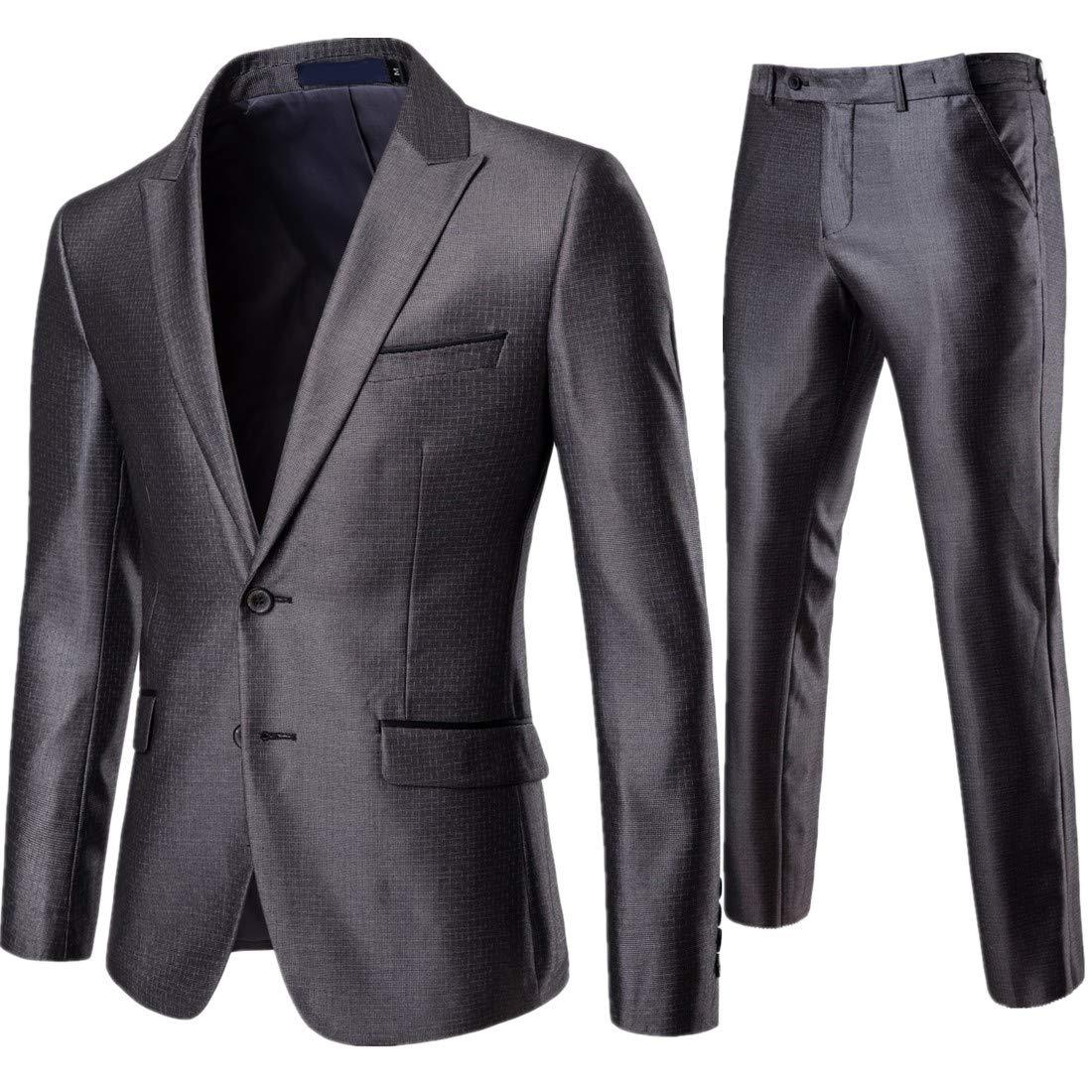 Herren Anzug Hose Slim Fit Straight Leg Business Hose Work