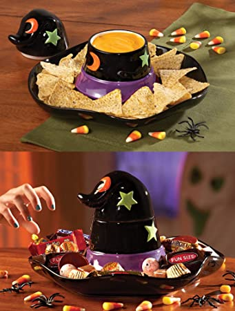 abef93f207d Image Unavailable. Image not available for. Color  Collections Etc - Witch  Hat Halloween Chip And Dip Set