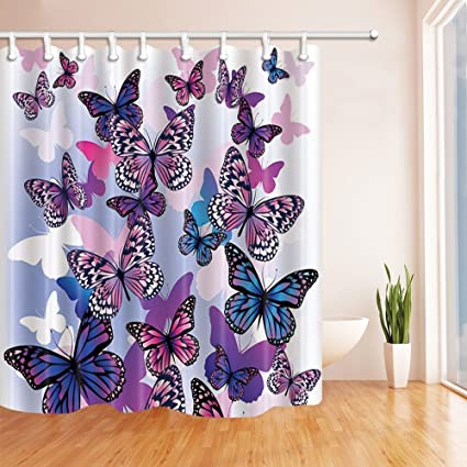 Image Unavailable Not Available For Color HiSoho Butterflies Shower Curtains