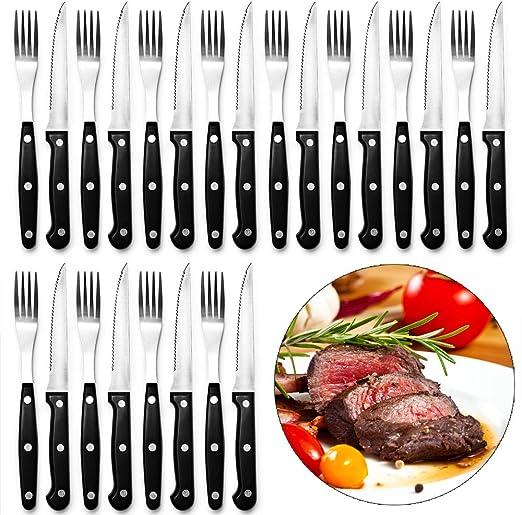Steak-Besteckset 12-teilig Messer Gabel Set Grillen