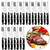 24tlg. Steakbesteck aus Edelstahl Pizzabesteck Besteck Grillbesteck 12x Steakmesser 12x Steakgabeln
