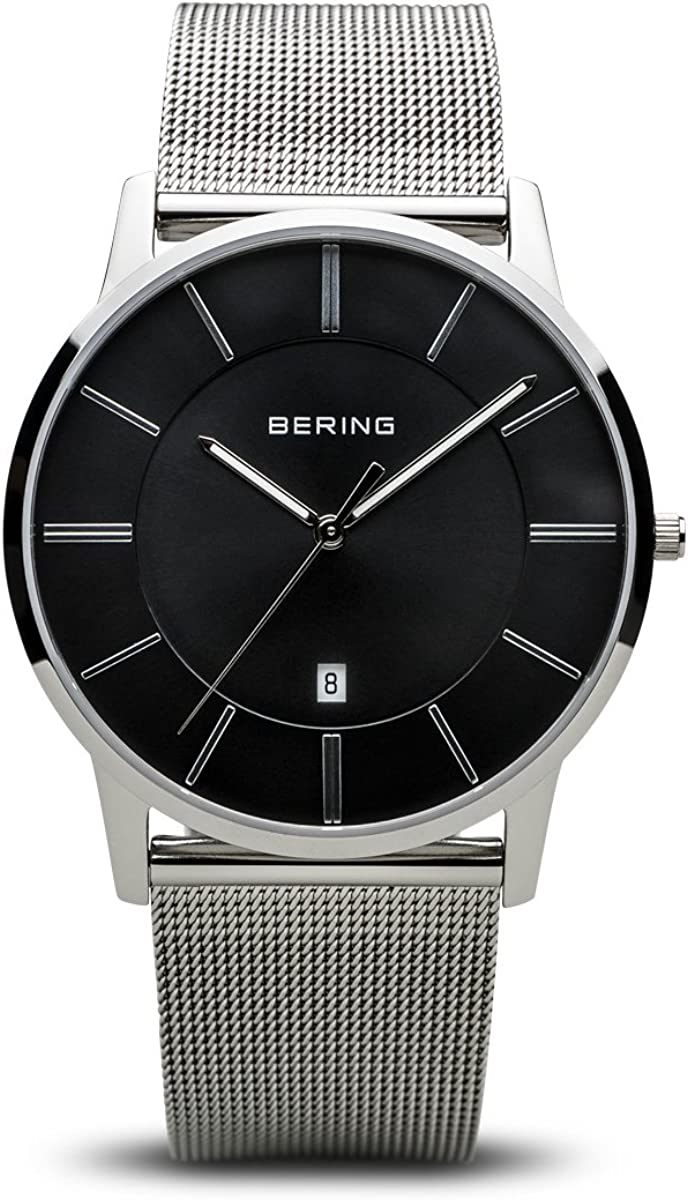 BERING Reloj Analógico para Hombre de Cuarzo con Correa en Acero Inoxidable 13139-002