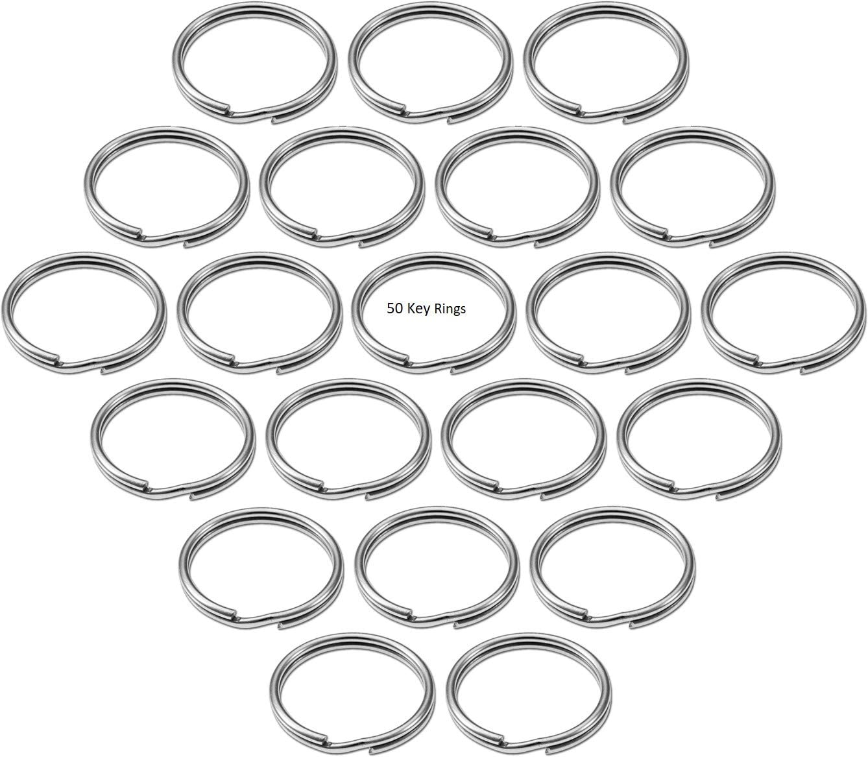 Lucky Line 2 Nickel Plated Steel Split Ring 50 per Box 77000