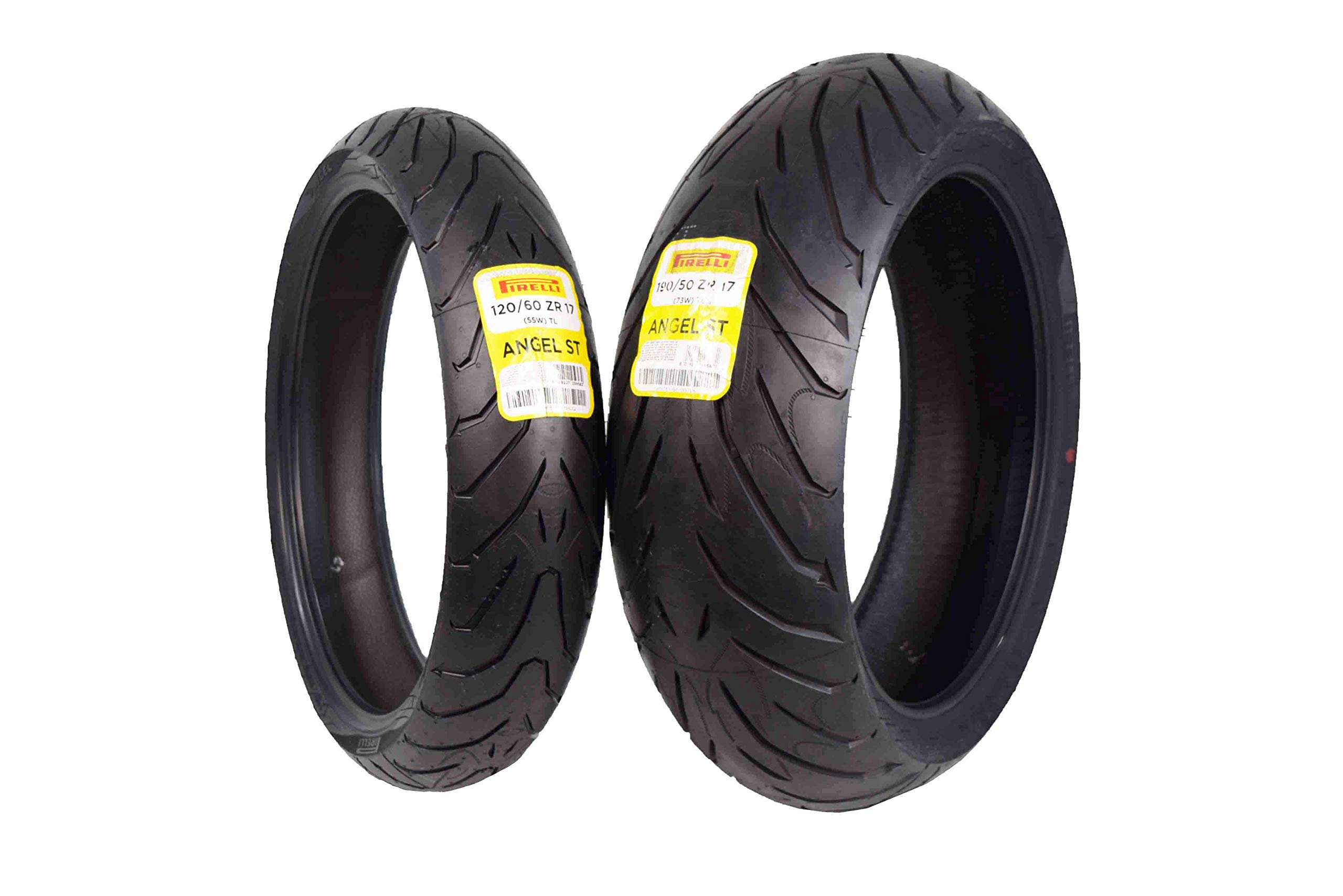 Pirelli Angel ST Front & Rear Street Sport Touring Motorcycle Tires (1x Front 120/60ZR17 1x Rear 190/50ZR17)