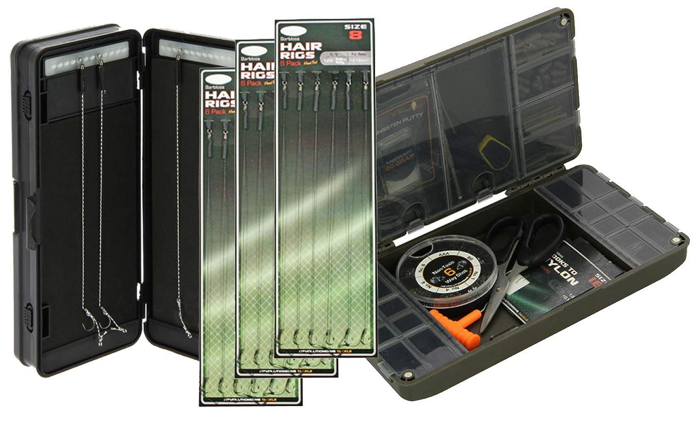 g8ds/® Tackle Box f/ür leichte Aufbewahrung ihres Zubeh/örs Angeln Karpfenangeln Magnetverschluss inklusive Rigbox und eine Packung Haar Vorf/ächer Gr/ö/ße 8 Hair Rig