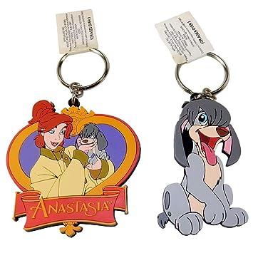 2 llaveros de Disney - Anastasia & Pooka, de colores ...