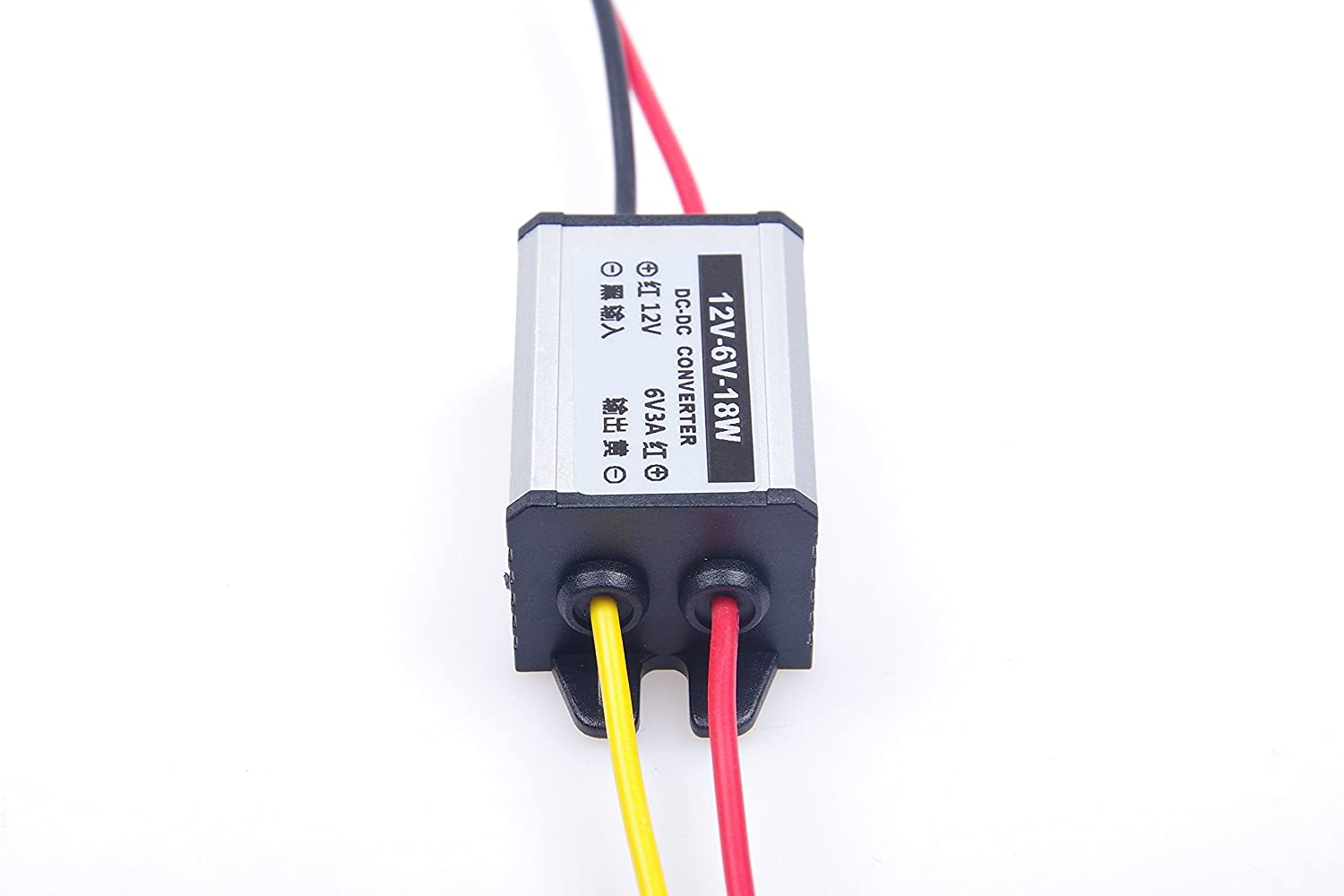 KNACRO DC-DC 12V to 6V 3A Step-Down Power Supply Module Car Power Converter Module Synchronous Buck Aluminum Shell Flame Retardant Over-Temperature Over-Current Short Circuit Protection