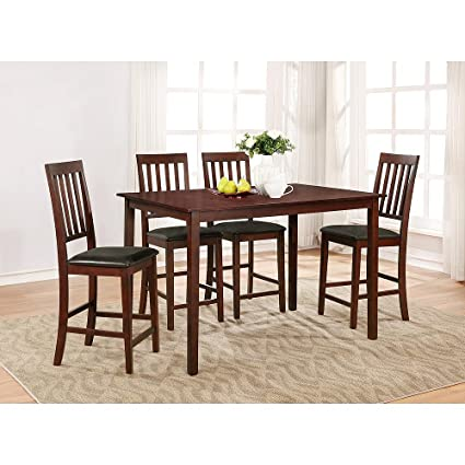 Amazon Essential Home Cayman 5pc High Top Dining Set Garden Outdoor
