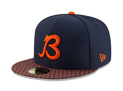 "951b41800a6616 New Era 59Fifty Hat Chicago Bears ""B"" NFL 2017 On Field Official  Sideline"