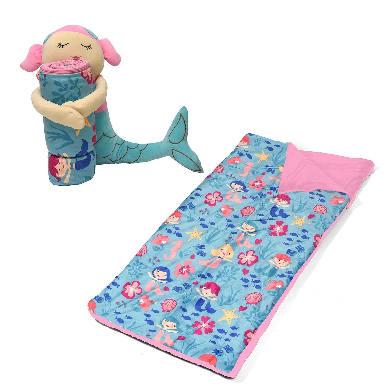 American Kids Huggable Slumber Character Mermaid Pink /& Teal Blanket Idea Nuova inc.