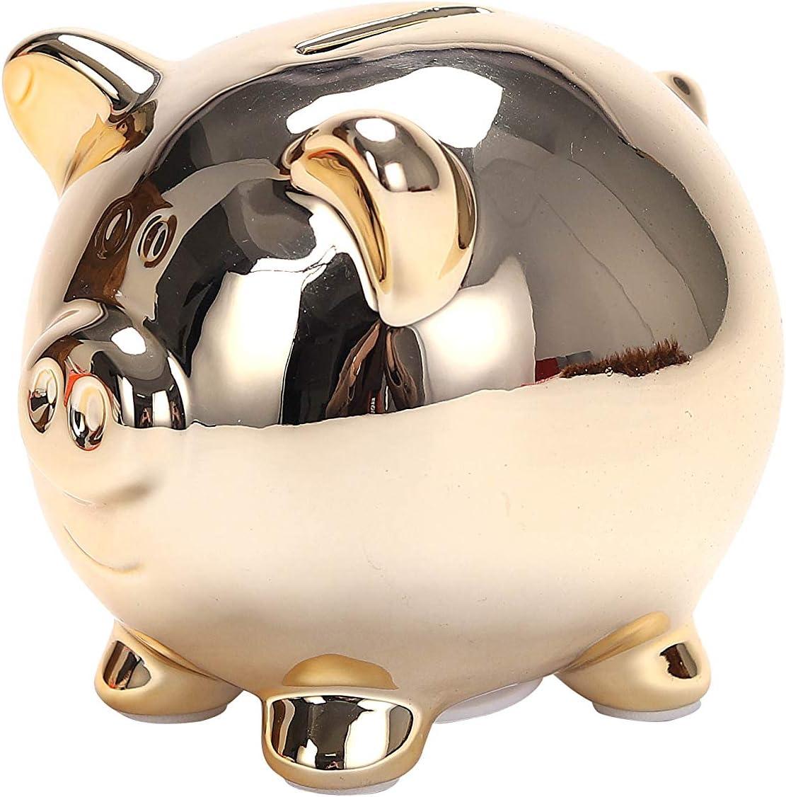 EYZEN Cute Gold Piggy Bank