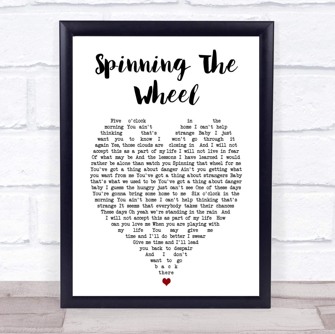 George Michael Spinning The Wheel Heart Song Lyric - Póster con ...