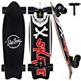 "BELEEV Cruiser Skateboard for Beginners, 27""x8"" Complete Skateboard for Kids Teens & Adults, 7-Ply Canadian Maple Double…"