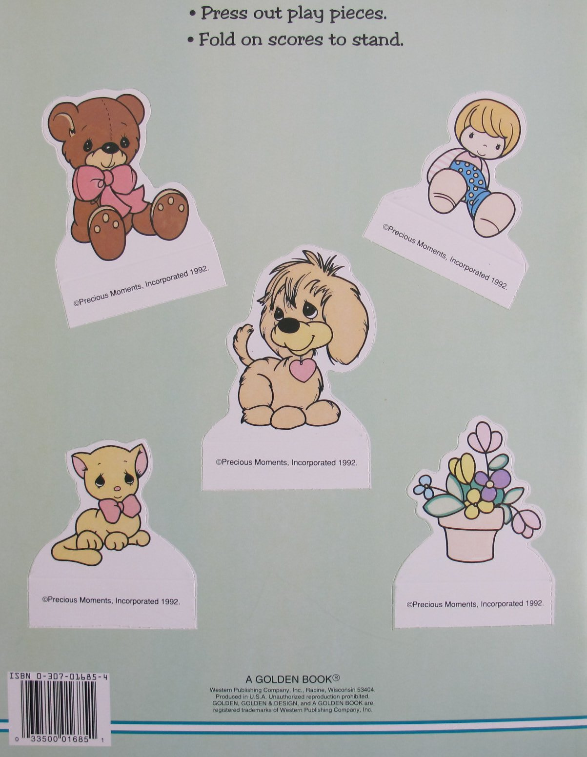 Golden PRECIOUS MOMENTS PAPER DOLL Book UNCUT w 2 Dolls, 5 Play Pieces & MORE! (1992) by Spider-Man (Image #2)