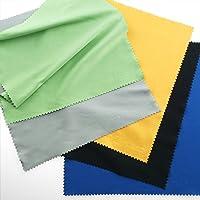 Mikrofaser Reinigungstücher - 5 große bunte Tücher für die Reinigung von Gläsern, Brille, Kameras, iPad, iPhone, Tablets, Handys, LCD-Bildschirmen, Silberwaren und anderen empfindlichen Oberflächen von ECO-FUSED (8 x 8 Zoll / 20 x 20 cm Schwarz , Grau, Grün, Blau, Gelb)