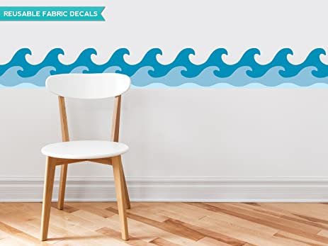 Ordinaire Sunny Decals Wave Wall Border Fabric Wall Decal Set Of 2, 7.8u0026quot; X