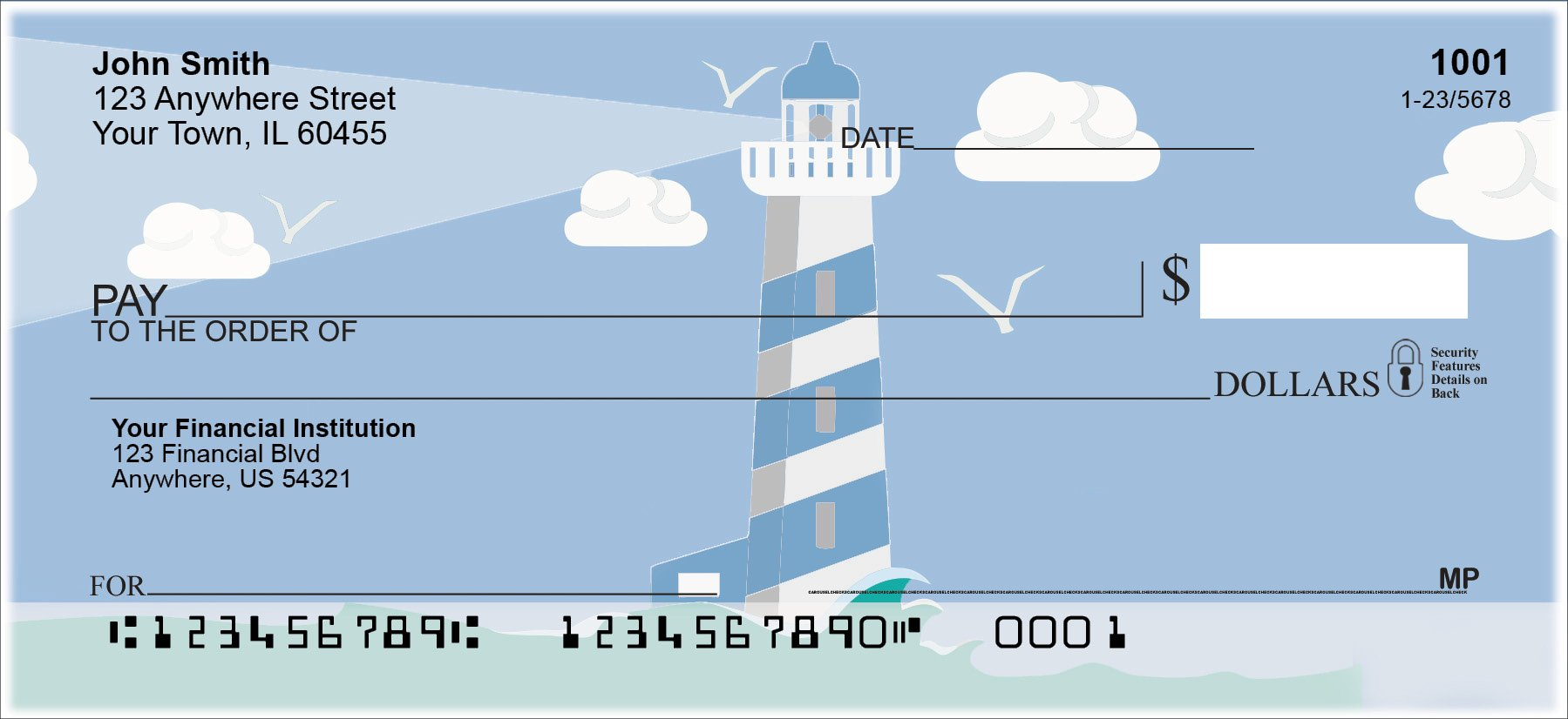 Splendid Lighthouse Personal Checks (1 Box Singles)