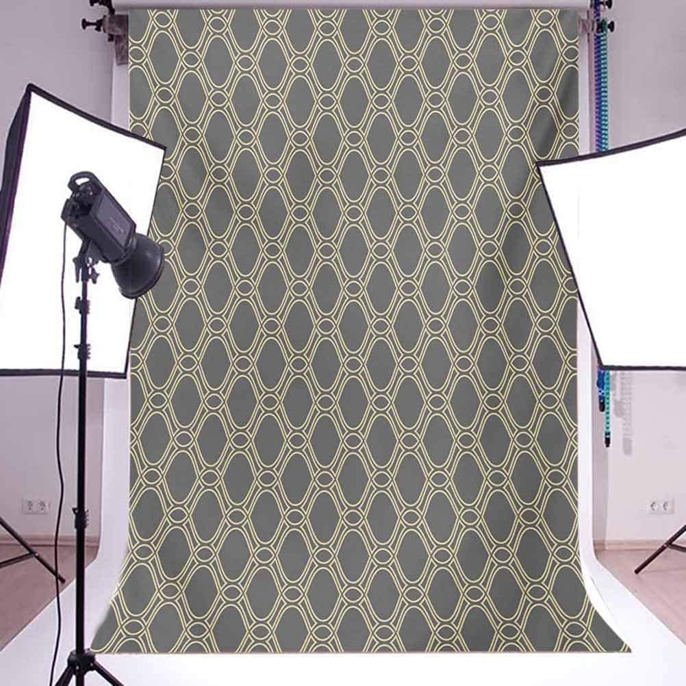 Retro 8x10 FT Photo Backdrops,Pastel Color Circular Shapes in Squares Mosaic Pattern Modern Geometric Illustration Background for Child Baby Shower Photo Vinyl Studio Prop Photobooth Photoshoot