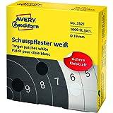 Avery Zweckform 3522 étiquettes rondes pour cibles de tir 19 mm, blanc, diamètre 19 mm - 1000 Pieces
