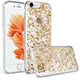 iPhone 6S Plus Case, iPhone 6 Plus Case, Welity Luxury Chic Cute Art Ultra Slim Glitter Bling Sparkling Crystal Clear Snap On Soft Silicone Back Cover Case for Apple iPhone 6/6S Plus (Golden)