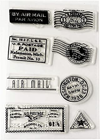 HuntGold – Marca Post sello transparente transparente sello Cling hojas DIY Junta artesanía Scrapbook: Amazon.es: Hogar