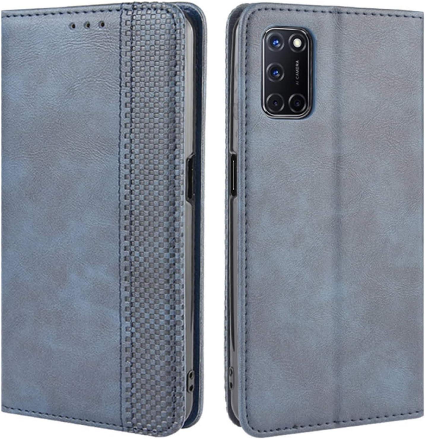 Oppo A52//A72//A92 /Étui antichoc en cuir PU Flip Wallet Cases Mandala Folio Slim Fit Magn/étique Housse de protection souple TPU Bumper avec support porte-cartes pour Oppo A52//A72//A92 Noir