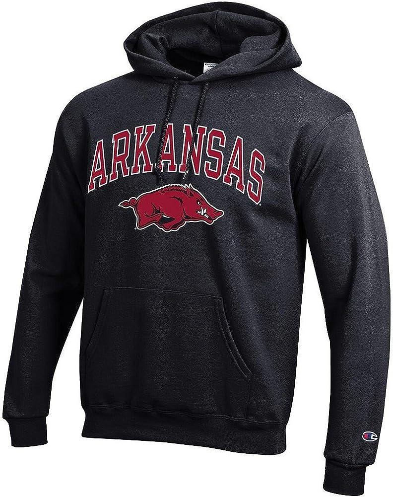 Elite Fan Shop NCAA mens Black Arch Hoodie Sweatshirt