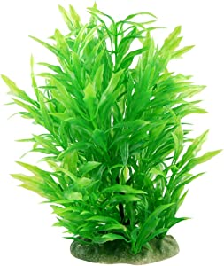 CNZ Aquarium Decor Fish Tank Decoration Ornament Artificial Plastic Plant Green (8.9-inch Green)