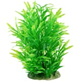CNZ 水族箱装饰鱼缸装饰装饰仿真塑料植物绿色 8.9-inch Green