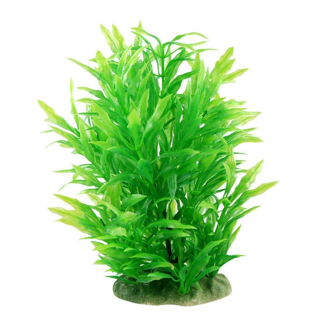 (23cm Green) CNZ Aquarium Decor Fish Tank Decoration Ornament Artificial Plastic Plant Green