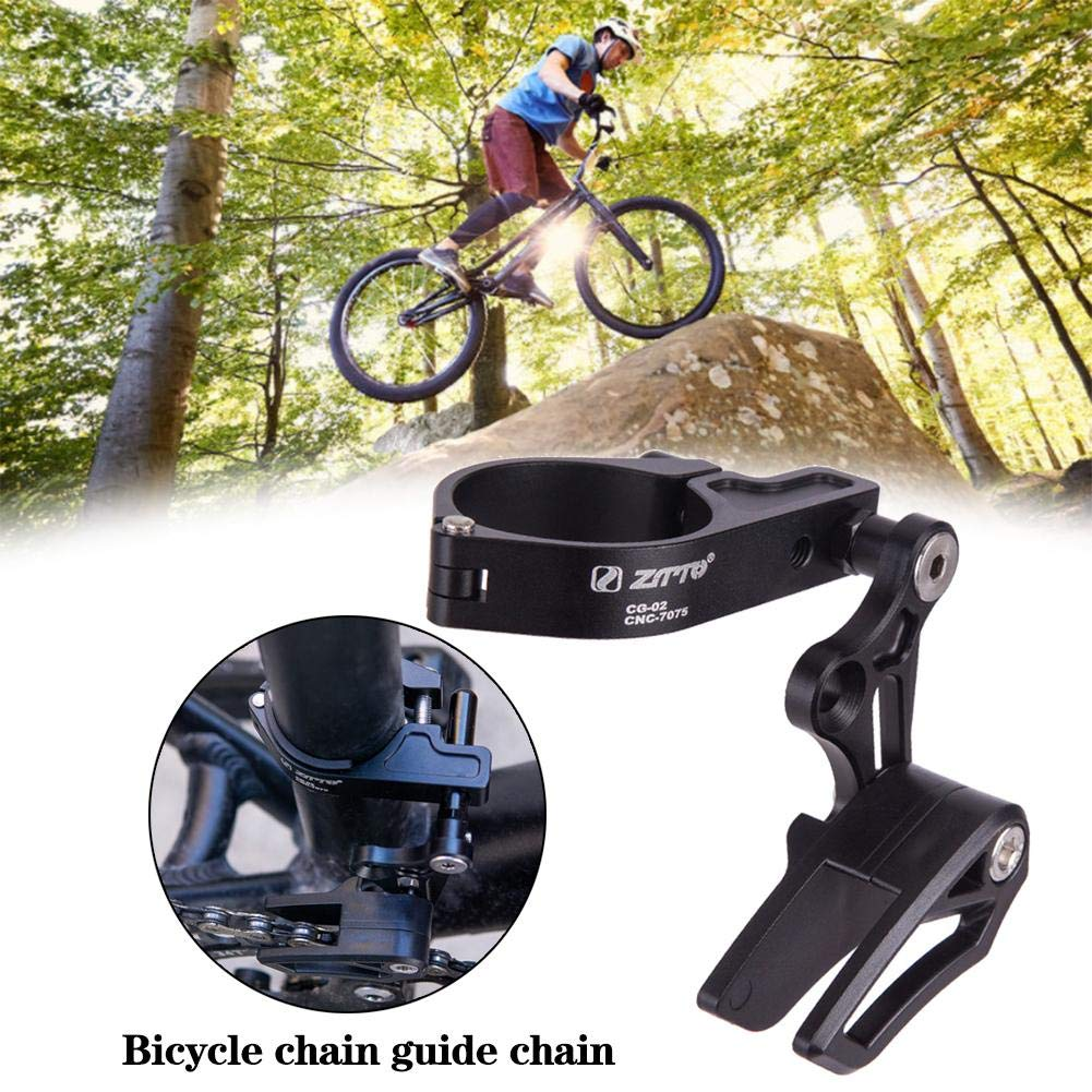 FOURIERS MTB Bike 1S Single Bicycle Seat tube clamp chain guide 31.8// 34.9mm 002