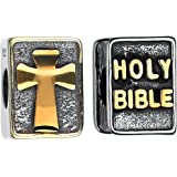 Women's Bracelets Collections Holy Bible Silver Bead Charm