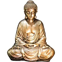 Zen Light Estatua Buda, Resina, Oro, 16 x 10 x