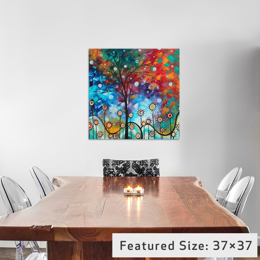 26 by 26-Inch 0.75-Inch Deep iCanvasART MDN80 Field of Joy by Megan Duncanson Canvas Print