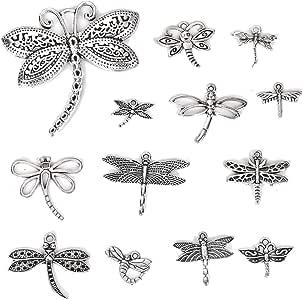 50//300pcs Tibetan Silver Little bee Jewelry Finding Charm Pendant DIY 16x12mm